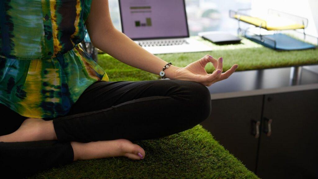 peaceful on desk